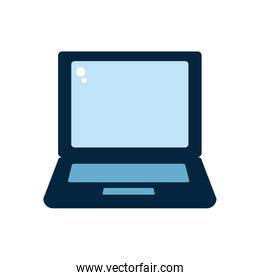 Isolated digital laptop flat style icon vector design