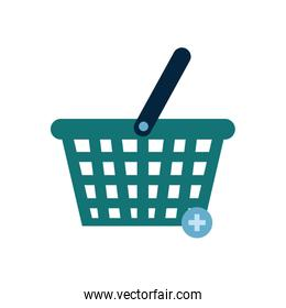Isolated shopping basket flat style icon vector design