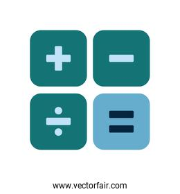 Isolated calculator buttons flat style icon vector design