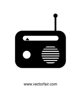 Isolated music radio silhouette style icon vector design