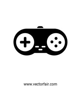 Isolated videogame control silhouette style icon vector design
