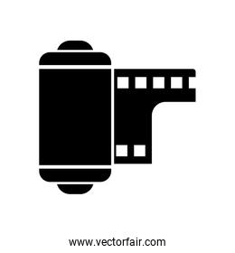 Isolated camera roll silhouette style icon vector design