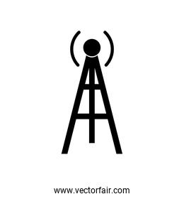 Isolated antenna silhouette style icon vector design