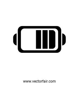 Isolated battery silhouette style icon vector design