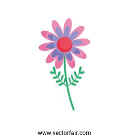 colored flower stem leaves floral icon