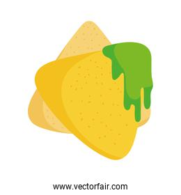 nachos with guacamole food tradition mexico icon