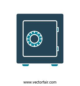 Isolated money strongbox silhouette style icon vector design