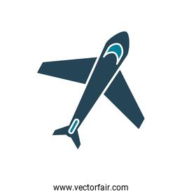 Isolated airplane silhouette style icon vector design