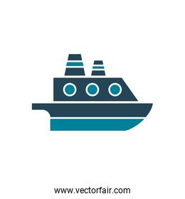 Isolated ship vehicle silhouette style icon vector design
