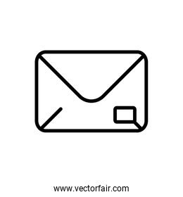 mail postcard delivery icon thick line