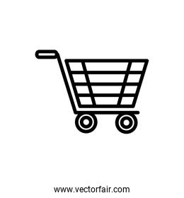 shopping cart delivery icon thick line