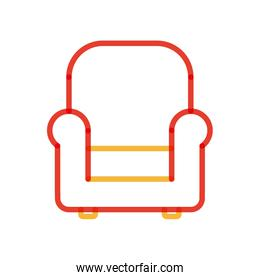 Isolated chair multiply line style icon vector design
