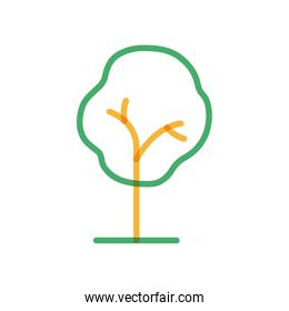 Isolated season tree multiply line style iconvector design