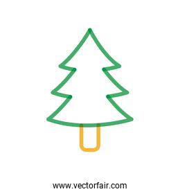 Isolated pine tree multiply line style icon vector design