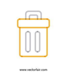 Isolated trash multiply line style icon vector design