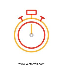 Isolated chronometer multiply line style icon vector design