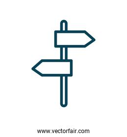 Isolated road sign line style icon vector design