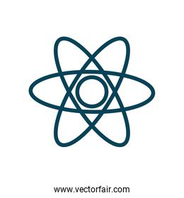 Isolated chemistry atom line style icon vector design