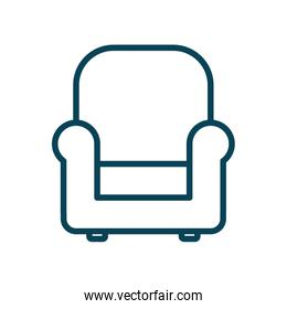Isolated chair line style icon vector design