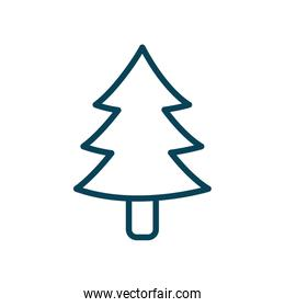 Isolated pine tree line style icon vector design
