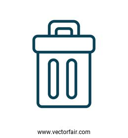 Isolated trash line style icon vector design