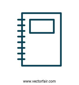 Isolated school notebook line style icon vector design