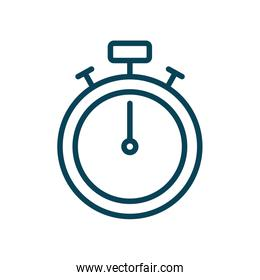 Isolated chronometer line style icon vector design