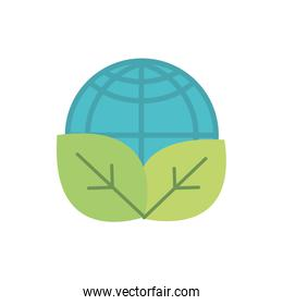 world leaves nature green energy icon
