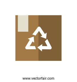 cardboard box package recycle green energy icon