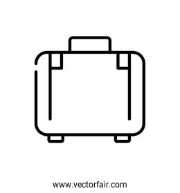 suitcase luggage tourism travel thick line