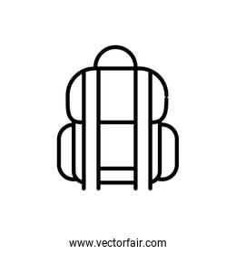 rucksack luggage tourism travel thick line