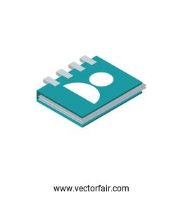 address book contact postal mail isometric