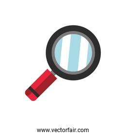 magnifying glass school and education icon