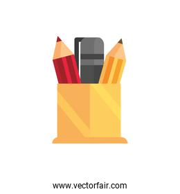 pencils and pen school and education icon