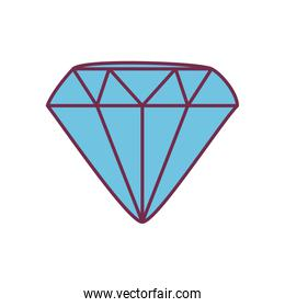 Isolated diamond line and fill style icon vector design