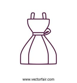 Isolated dress line style icon vector design