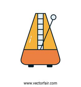 trapezoide harp instrument line and fill style icon vector design