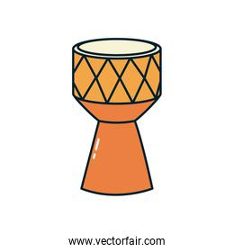 drum instrument line and fill style icon vector design
