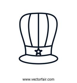 Isolated usa hat line style icon vector design