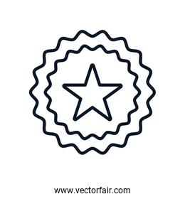 Isolated seal stamp with star line style icon vector design