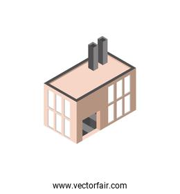 building factory company isometric style