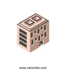 hotel apartments building isometric style