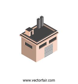building industrial warehouse commerce isometric style