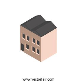 warehouse industry building isometric style