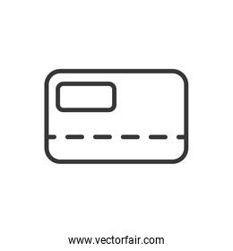 bank card credit or debit finance money icon thick line
