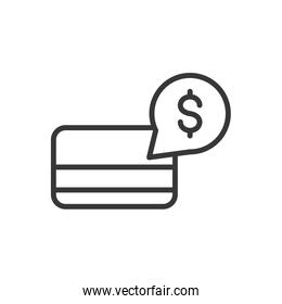 bank card money finance icon thick line