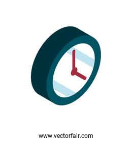 clock time online shopping isometric icon