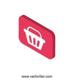 basket button online shopping isometric icon