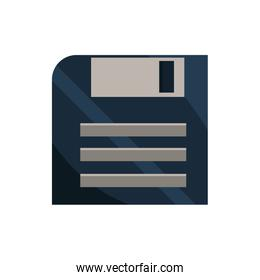 floppy disk office work business equipment icon