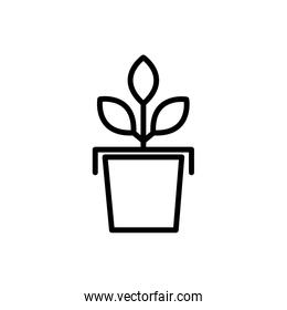potted plant rural agriculture thick line